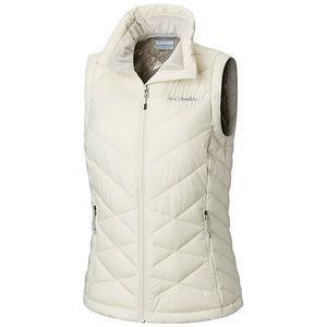 Columbia Heavenly Vest in Cream size Large